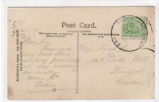 Picture postcard with KNOCKALOE CAMP PEEL Isle of Man skeleton postmark (C14577)