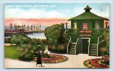 Santa Monica, CA - NICE UNUSED POSTCARD OF FAMOUS CAMERA OBSCURA AMUSEMENT - S3