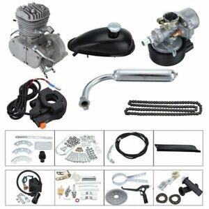 80CC 2 Stroke Motorised Bike Gas Motor Engine Kit Motorized Push Bicycle UK