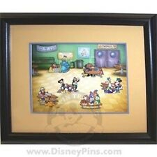 DISNEY 6 pin Trading UNIVERSITY Framed Set LE 200 EVENT SCHOOL LUNCH CAFETERIA