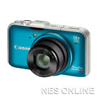Canon PowerShot SX230 HS 12.1MP Digital Camera /w GPS 28mm Wide/14x Zoom/BLUE