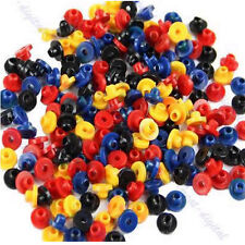 200PCs Colorful Rubber Grommets Nipples For Tattoo Machine Needles Supplies