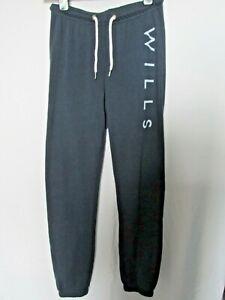 JACK WILLS WOMENS SLIM FIT ELASTICATED JOGGING PANTS NAVY UK 6 F5/1579