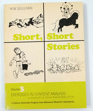 Short Stories Vol 3 Sullivan Reading Books 13-16 Exercises in Content Analysis