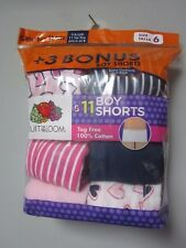 Fruit of the Loom Girls' 11-Pack Multi-Color Boys Shorts Size 6