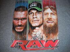 WWE RAW Long Sleeve T-Shirt- John Cena,Randy Orton,Daniel Bryan- Boys XS 5/6 NEW