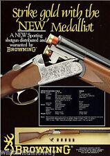 1989 Browning New Medallion Sporting Shotgun Ad British Uk Advertising
