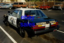 1986 Ford Mustang SQUARE LIGHTS CHP California Highway Patrol 8x12 Photo POLICE