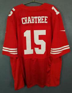 MEN NIKE SAN FRANCISCO 49ERS MICHAEL CRABTREE NFL FOOTBALL SHIRT JERSEY SIZE XL