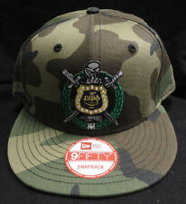 Omega Psi Phi Camo New Era NE400 Snap Back with Crest Patch