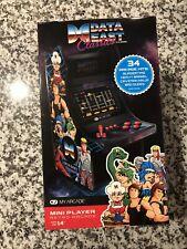 My Arcade DATA EAST CLASSIC Mini Retro Arcade Player Machine 34 Hits **NEW**