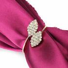 8Pcs Napkin Rings Rhinestone Handmade Serviette Buckle Holder Wedding Dinner New
