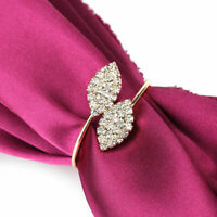 8Pcs Napkin Rings Rhinestone Handmade Serviette Buckle Holder Wedding Dinner New