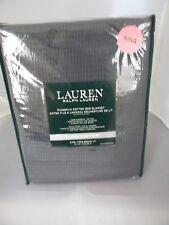 Ralph Lauren Silver Comfort GREY King 100% RIngspun Cotton Blanket