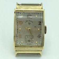 Vintage Lord Elgin 14K Yellow Gold 21 Jewel Adj Mens Wrist Watch Running