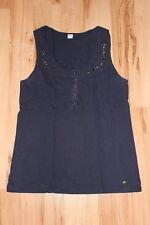 S.Oliver T-Shirt Top Blau Nieten Größe 36