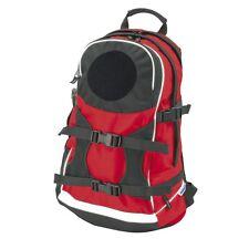 Freizeit-Rucksack mit Flauschfläche rot ohne Klettpatch Dienst Freizeit #10074