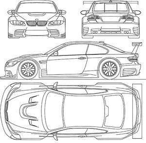 2009 BMW-M3-GTR - Blueprint Poster