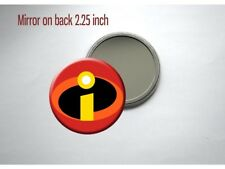 Incredibles Logo 'I' Superhero Disney Pixar Pocket/Purse Mirror