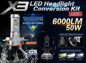 KIT MTEC X5 LED HEADLIGHTS LIGHT H4 12v 6000 LUMEN IL PIU' POTENTE - 2018