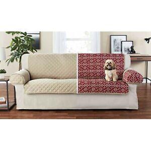 Set 3 Pieces Sofa Cover Reversible Furniture Protector Cushion Microfiber Pets
