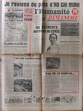 L'Humanité Dimanche (16 juil 1950) Pays d'Ho Chi Minh - Tour de France