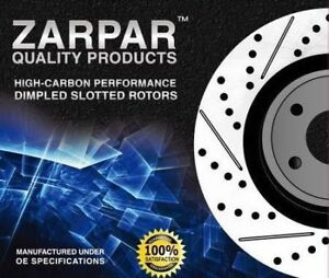 Dimpled Slotted Front Brake Rotors fit Porsche Cayenne 955 4.5L S M48 00 350mm