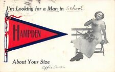 Hampden ME Effie Looks For A Man in School About Your Size~Pennant c1913 As Is