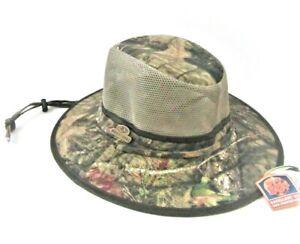 "Mossy Oak Brushed Twill Safari Hat for Men Size Medium 7"" - 7 1/4"" UPF 50+"