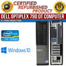 Dell OptiPlex 790 DT Intel i5 4 GB RAM 500 GB HDD Win 10 USB VGA B Grade Desktop