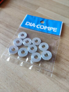 Dia-Compe 3mm side pull caliper pivot bolt spacers aluminum washers (pack of 10)