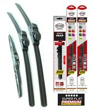 "Ssangyong Rexton 2002-on full set wiper blades 20""20""12""front + rear"