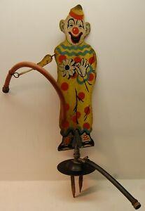 Vintage 1930's Sprinkler Sam Clown Painted Sprinkling, Kids Lawn Garden