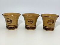 Set Of 3 Pottery Craft Vino Cups Made in USA