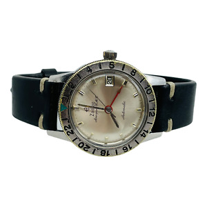 Zodiac Vintage Aerospace GMT Automatic Mens Stainless Watch Ref 752-925