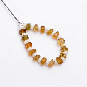 """100% Natural Yellow Tourmaline Rondelle Faceted Beads 4X4X2 mm Strand 2"""" NW-9340"""