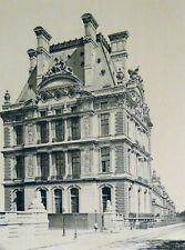 Pierre Lampué Perspective Pavillon de Flore Tuileries Paris Héliogravure XIXème