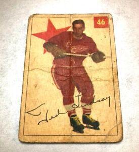 1954-55 Parkhurst #45 Ted Lindsay HOF DETROIT RED WINGS filler