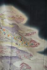 Vintage Japanese kimono tomesode   from Japan 9-28