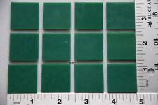 "0145.30 - 12 OPALESCENT JADE GREEN 1"" x 1"" BULLSEYE 3mm THICK GLASS 90 COE"