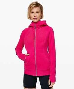 NEW LULULEMON Scuba Hoodie Jacket Calypso Pink Size 6 Light Cotton Fleece NWOT