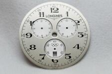 Longines Metallic Silver Olympic Chronograph Wristwatch Dial  37mm Used WC102707
