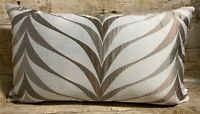 51cm x 30cm Abstract leaves Beige Bronze Chenille Handmade Cushion Cover EOKsews