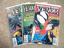 VENOM: TOOTH AND CLAW 1 to 3 (vs. WOLVERINE, FULL SET, 1996), NM