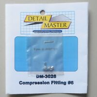 COMPRESSION FITTING #6 1:24 1:25 DETAIL MASTER CAR MODEL ACCESSORY 3026