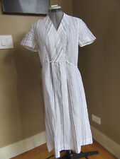 NWT LAFAYETTE 148 New York Tawny Linen Stripped Midi Dress, Size 4 US