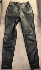 Gianni Versace Vintage Black Leather Pants 1974 Italy