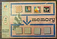 VINTAGE 1966 Milton Bradley MEMORY CARD MATCHING Game