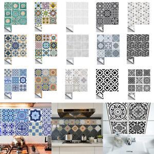 Mosaic Self Adhesive Stick On PVC Wall Tile Stickers Bathroom Kitchen Home Decor