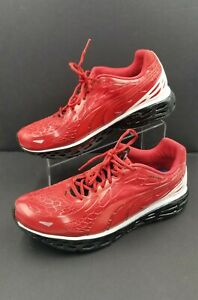 Puma Spiderman Shoes Web Cage Size 9.5 Red White Black Sneakers